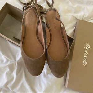 Madewell april ankle wrap flats